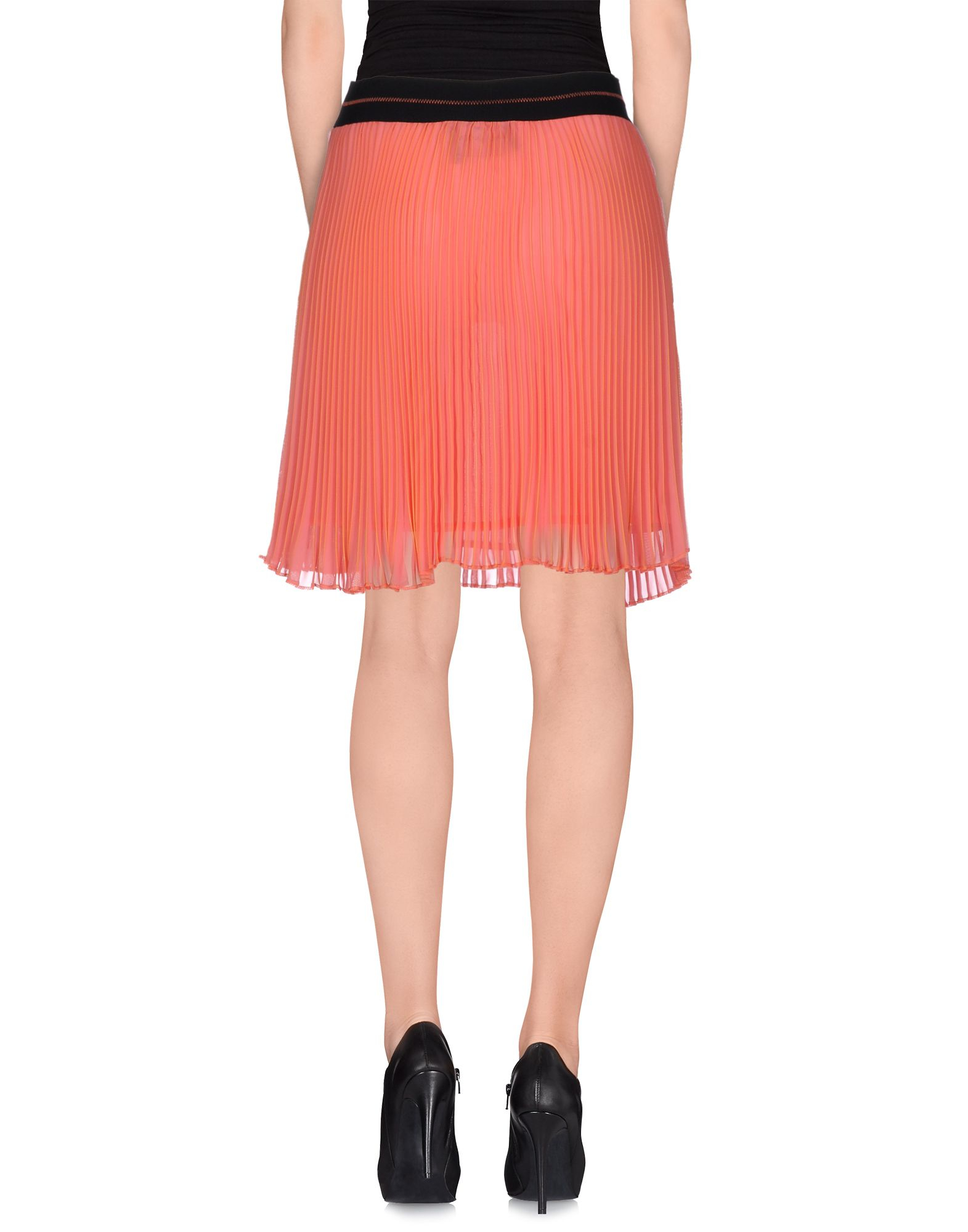 marco bologna knee length skirt in pink coral