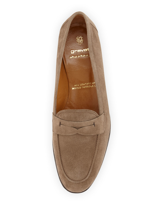 35e74ba783e Lyst - Gravati Suede Penny Loafers in Natural