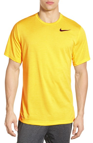 e4f65bf743d8 Lyst - Nike Dri-fit Training T-shirt in Yellow for Men