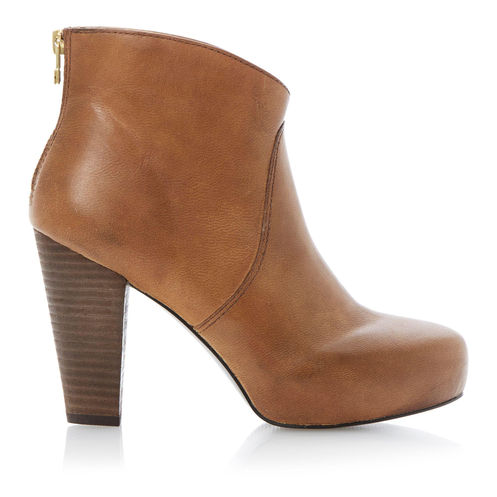 Steve Madden Naples Concealed Platform Leather Ankle Boots