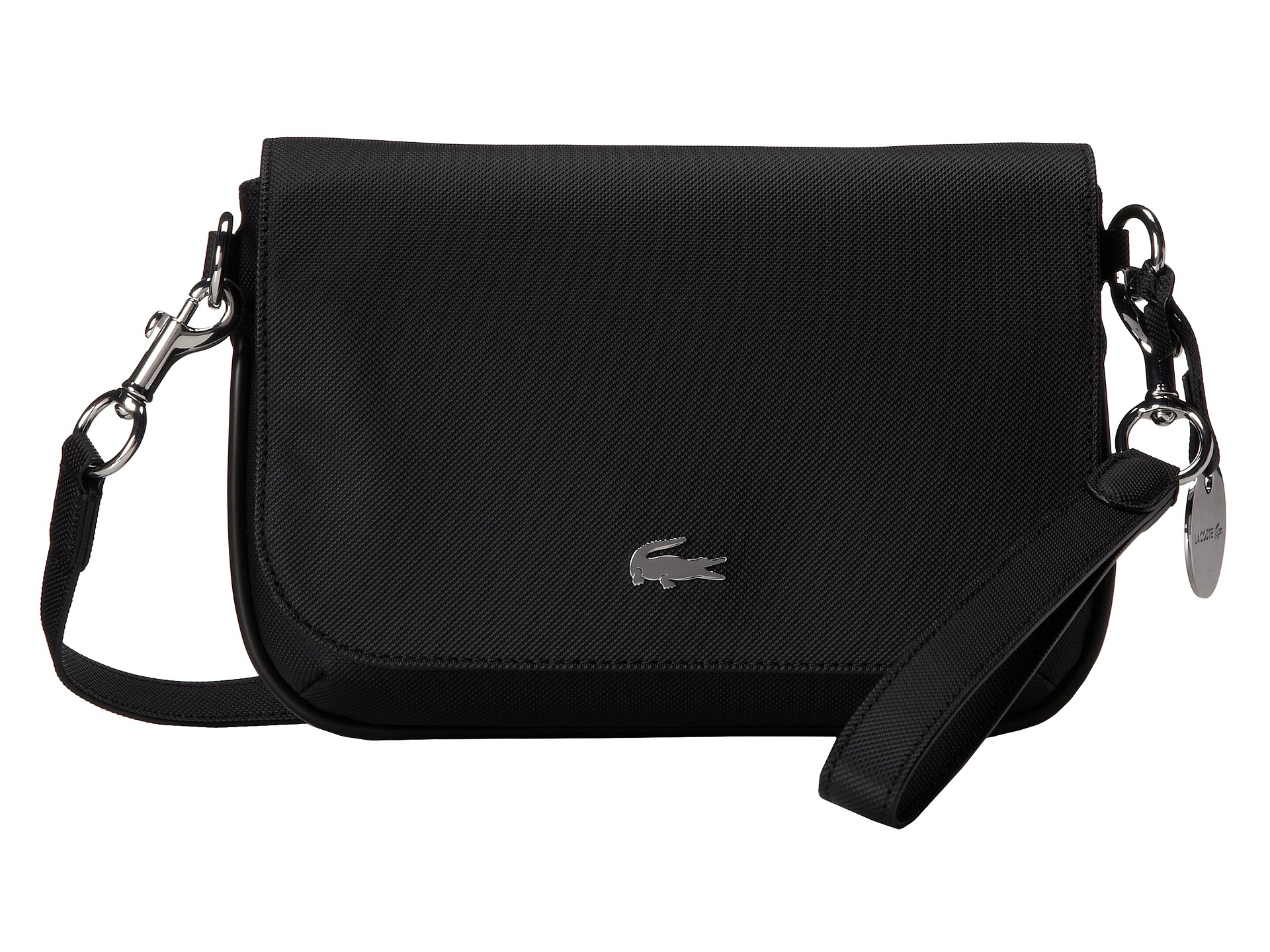10c44a123 Lyst - Lacoste Daily Classic Crossover Bag in Black