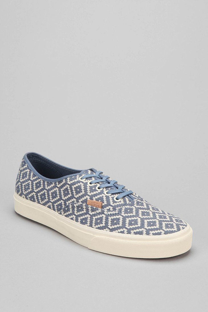 2cb89922a7 Lyst - Vans Authentic California Italian Weave Mens Sneaker in Blue ...