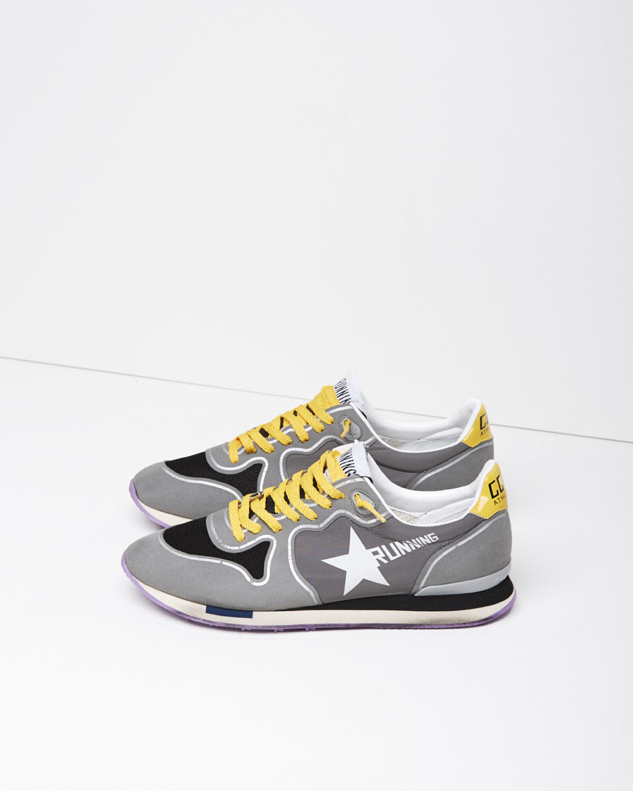 lyst golden goose deluxe brand running sneaker in gray. Black Bedroom Furniture Sets. Home Design Ideas