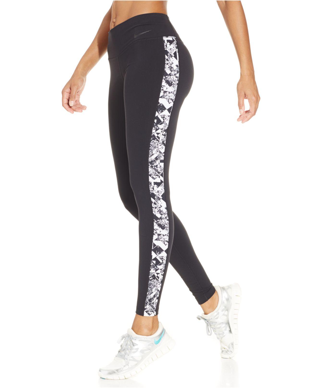 4c17dce786b7f Lyst - Nike Legendary Dri-fit Jewel-print Leggings in Black