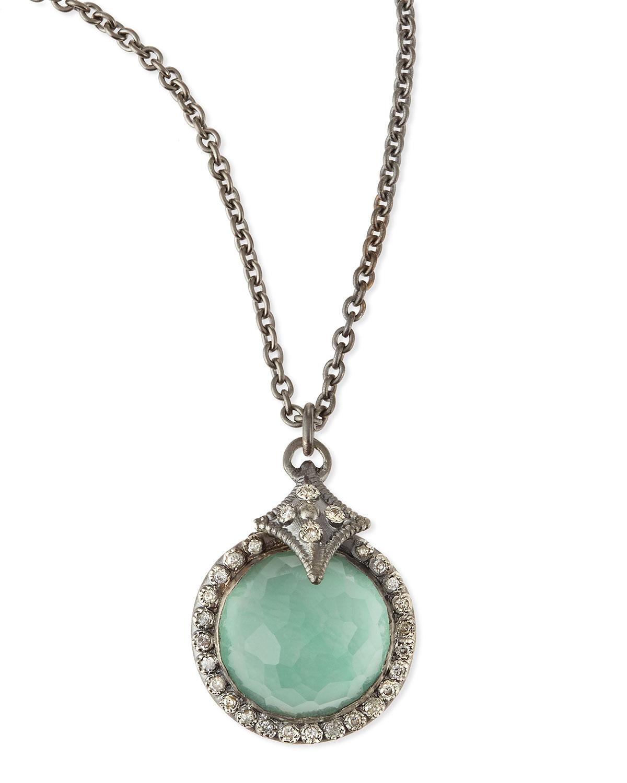 armenta new world quartz green turquoise pendant necklace