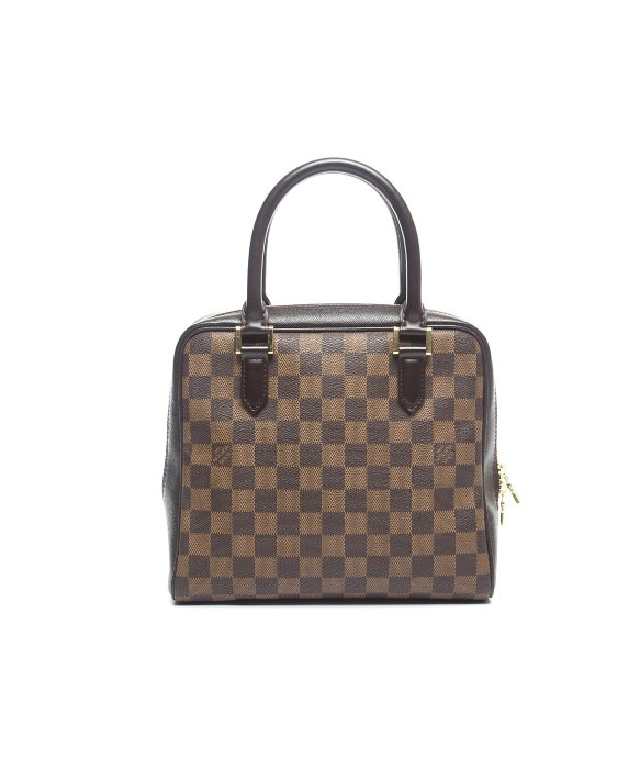 Louis Vuitton Trash Bags Gallery Louis Vuitton Pre Owned Damier Ebene Brera Bag In Brown Lyst