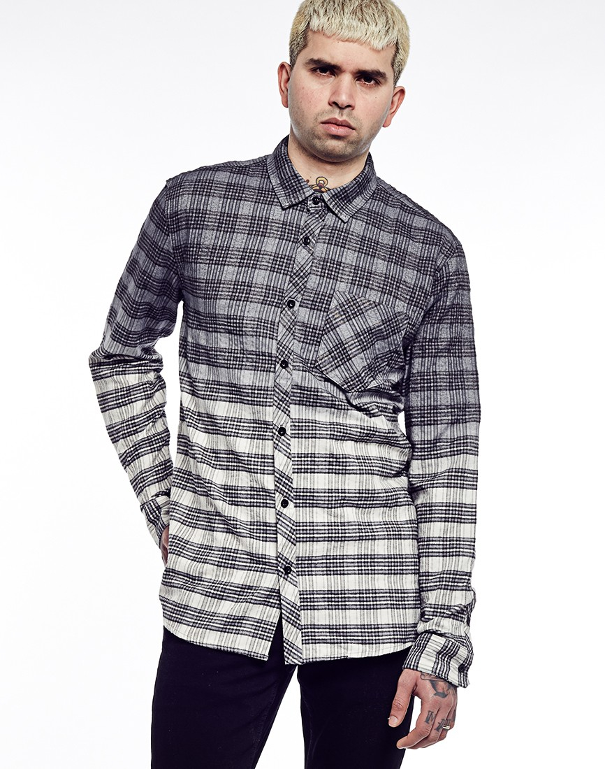 Lyst antioch grey flannel shirt in gray for men for Super soft flannel shirts