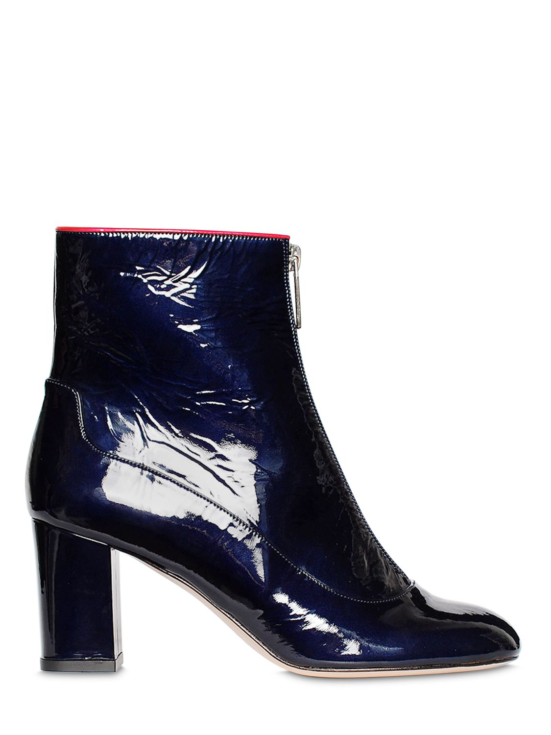 538931909655d Camilla Elphick 75mm Zip Me Up Patent Leather Boots in Blue - Lyst