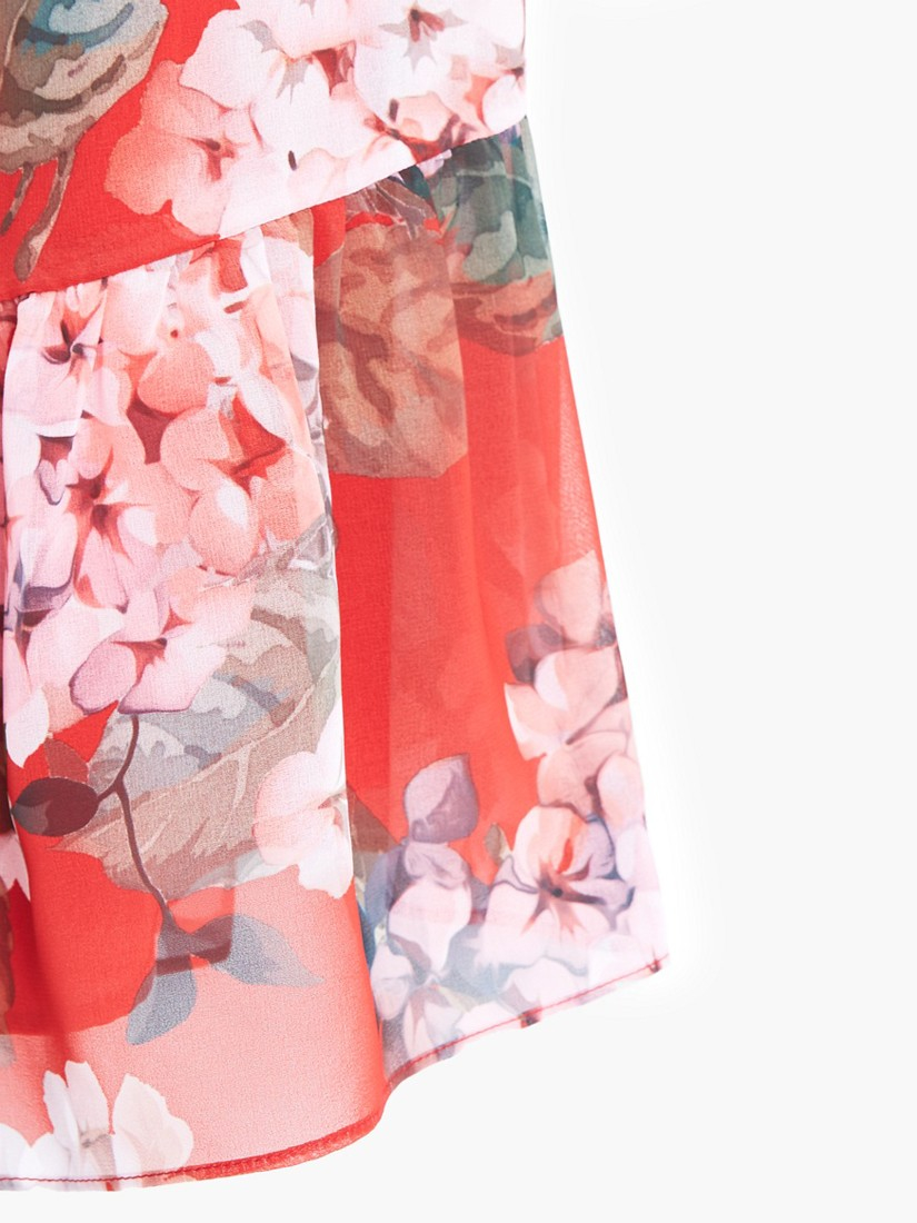 Mango floral print maxi dress medium pink