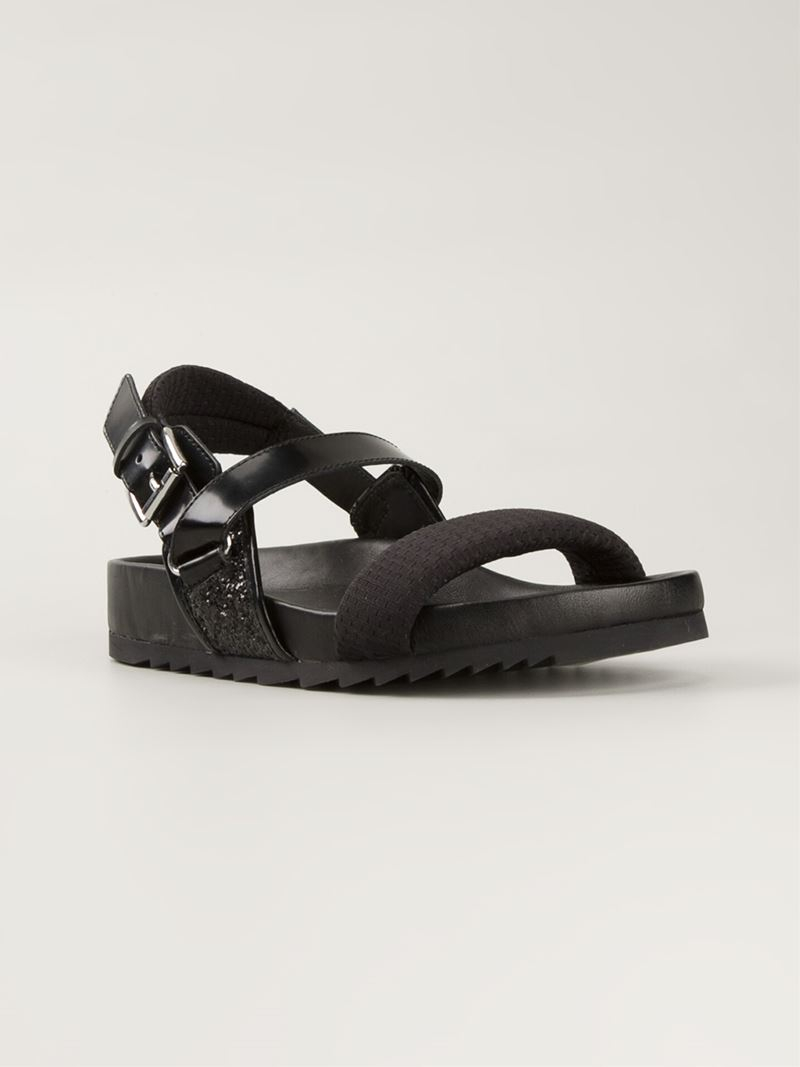 Lyst Ash Buckled Sandals In Black