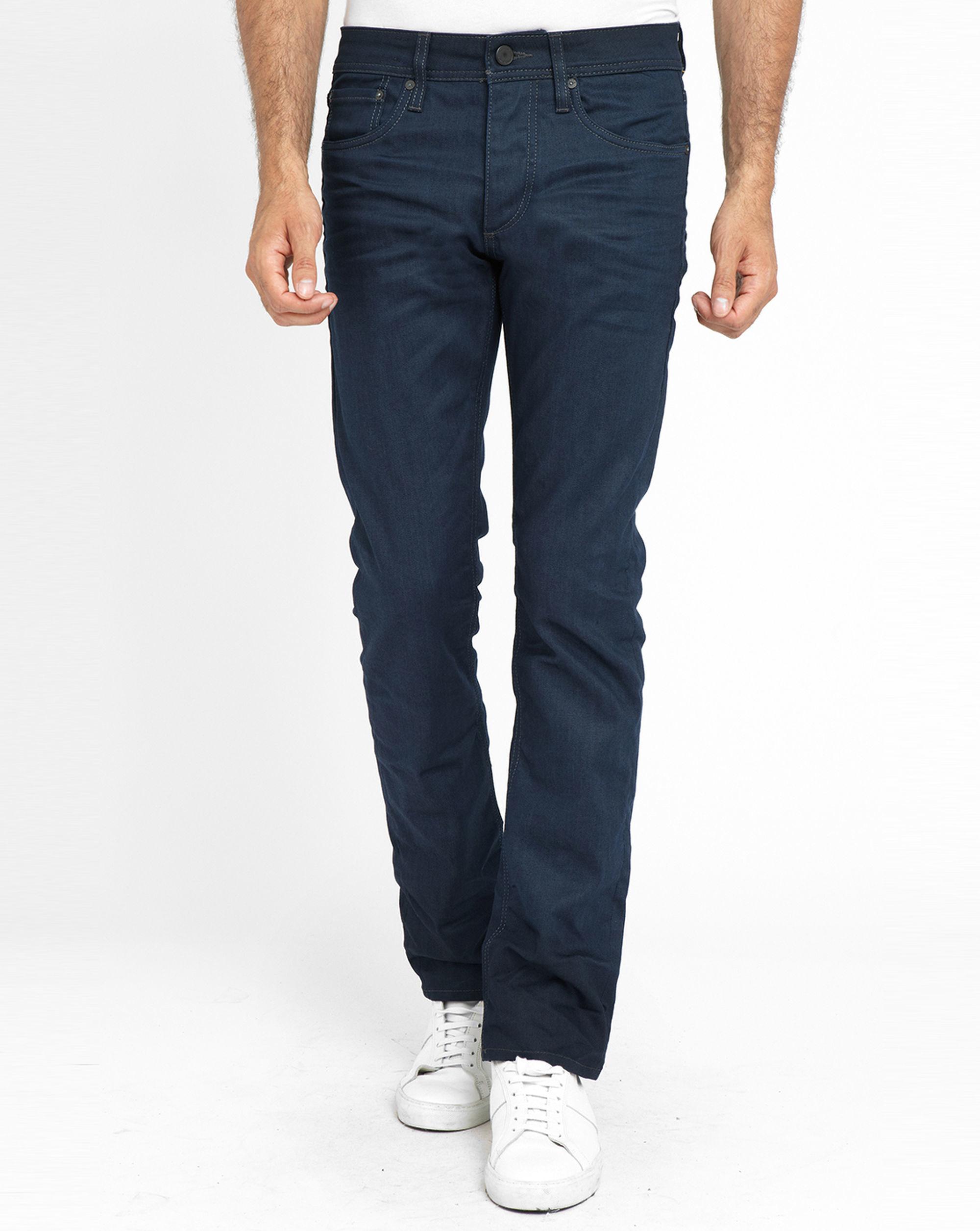 jack jones dark denim clark slim fit jeans in blue for. Black Bedroom Furniture Sets. Home Design Ideas