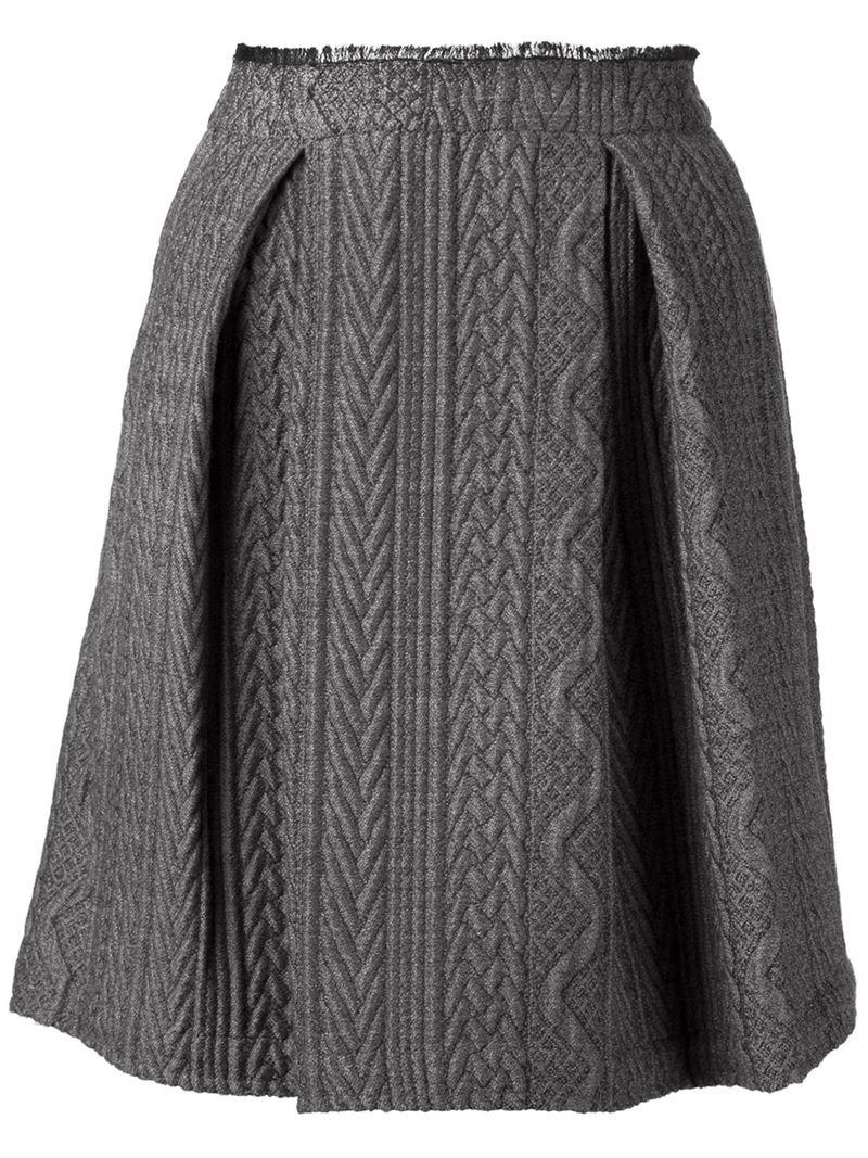 sea knit pleated skirt in black lyst