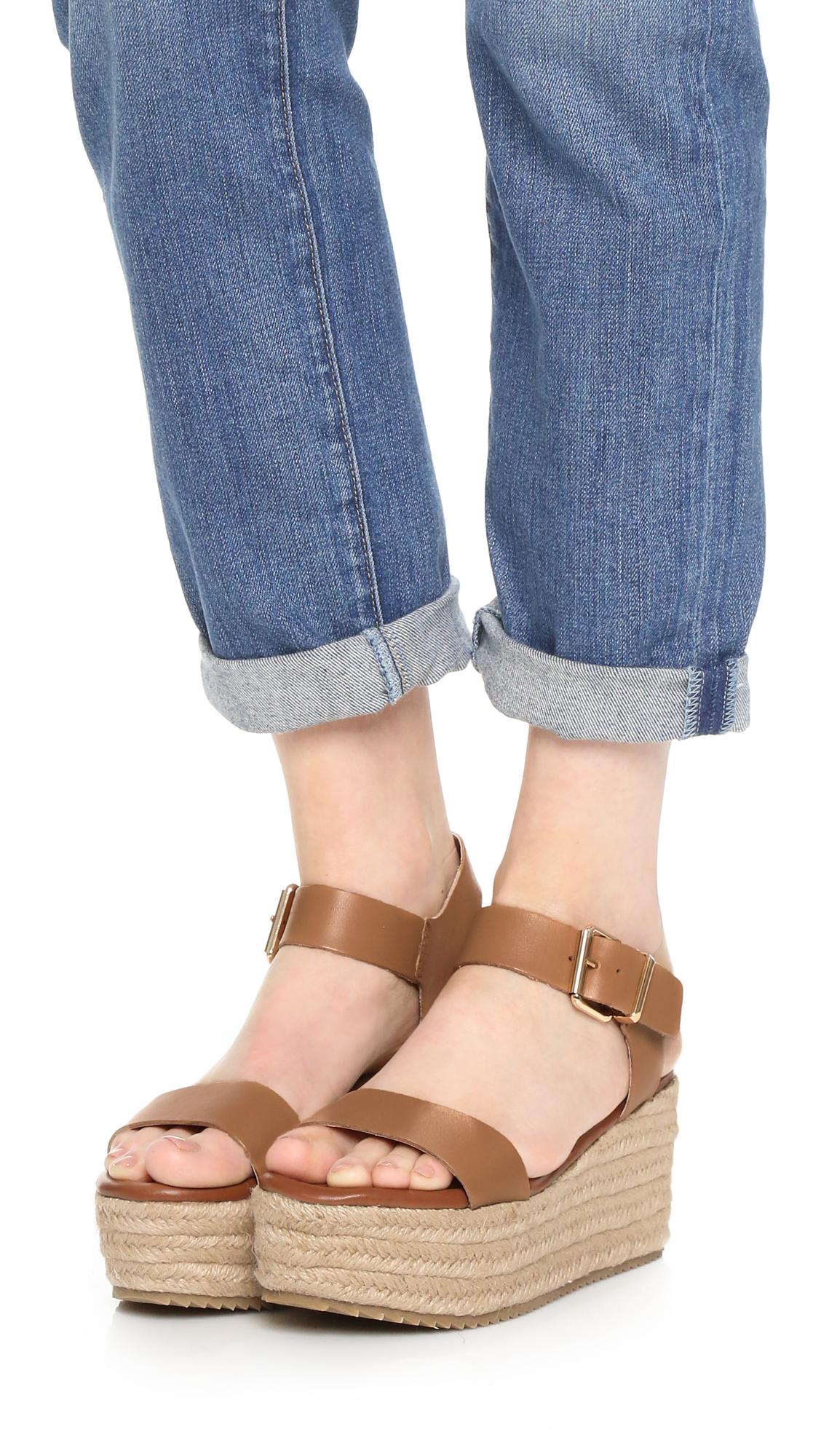 Lyst Steven By Steve Madden Sabbie Flatform Sandals In Brown