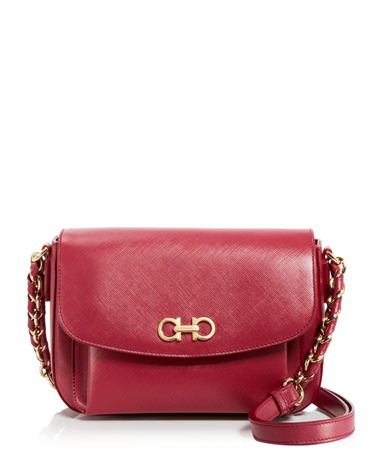 5b18cfb195 Snap Ferragamo Shoulder Bag Sandrine in Black Vin Red Lyst photos on ...