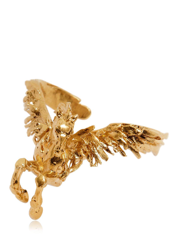 Lyst Roberto Cavalli Pegasus Cuff Bracelet In Metallic