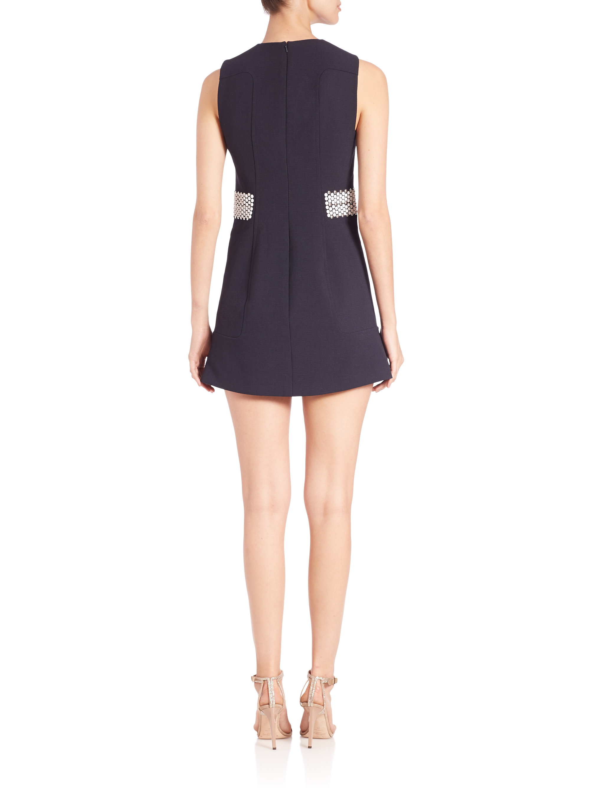 Lyst Michael Michael Kors Hot Fix Panel Dress in Blue