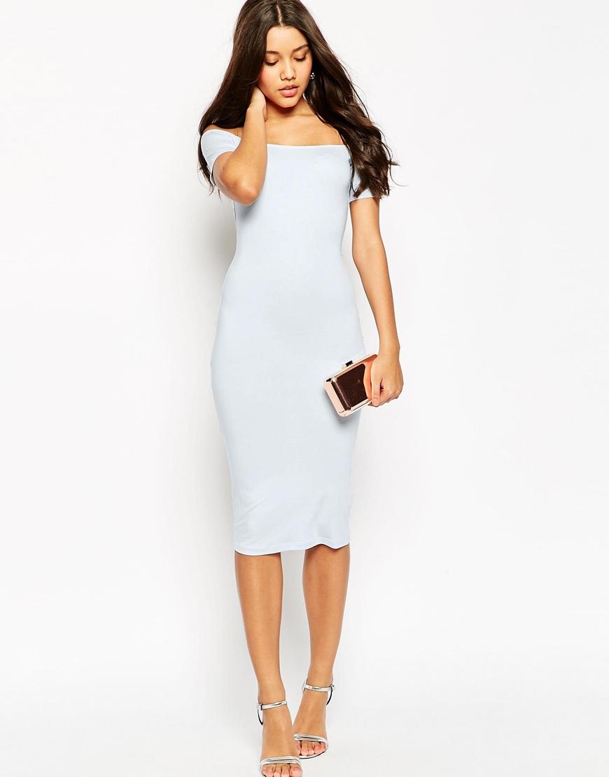 Short sleeve bodycon midi dress