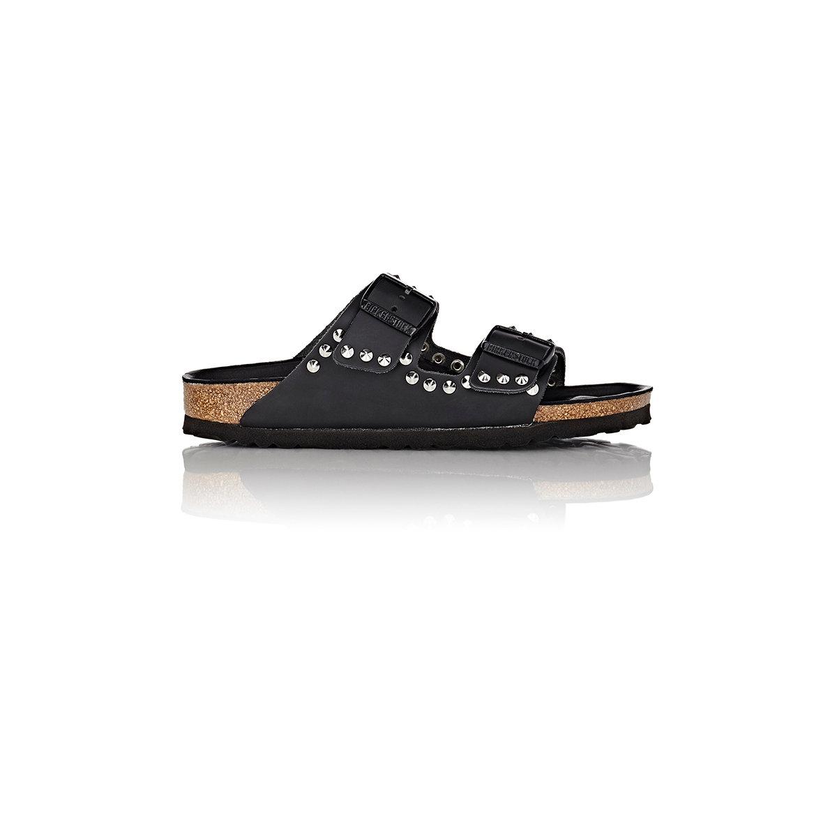 55183bfb43f4 Lyst - Birkenstock Women s Studded Arizona Double Buckle Sandals in ...