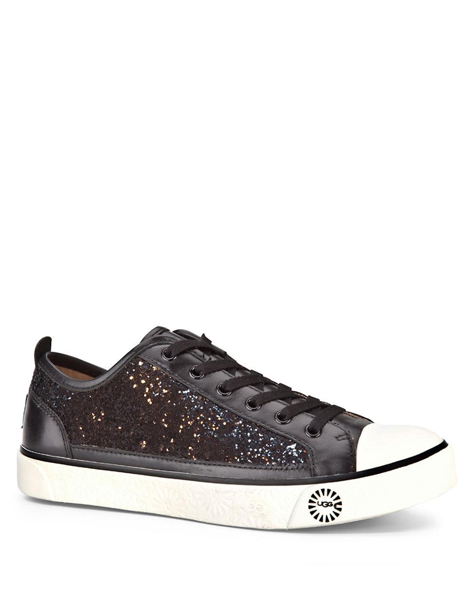 dbdb520240b UGG Evera Glitter Sneakers in Black - Lyst