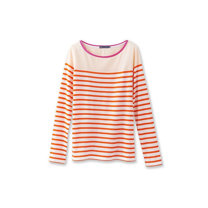 Petit bateau women 39 s long sleeved striped and colorblock for Petit bateau striped shirt