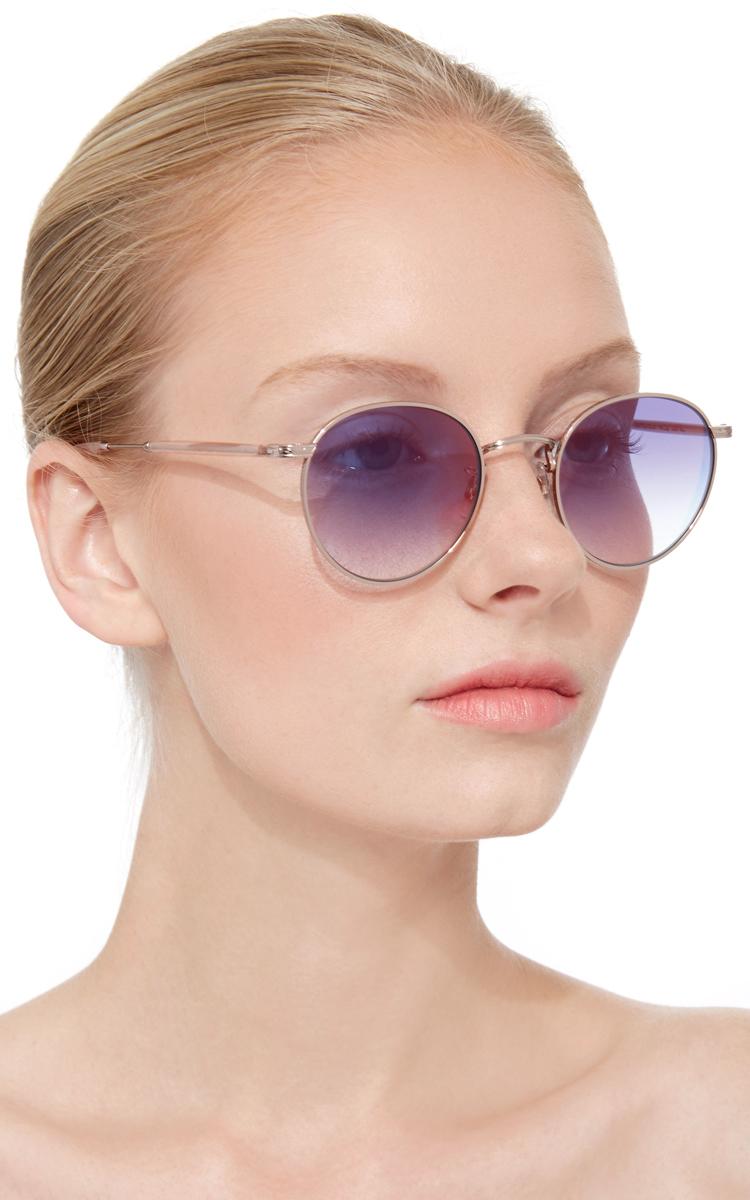 Lyst Garrett Leight Rose Gold Wilson Metal Sunglasses In