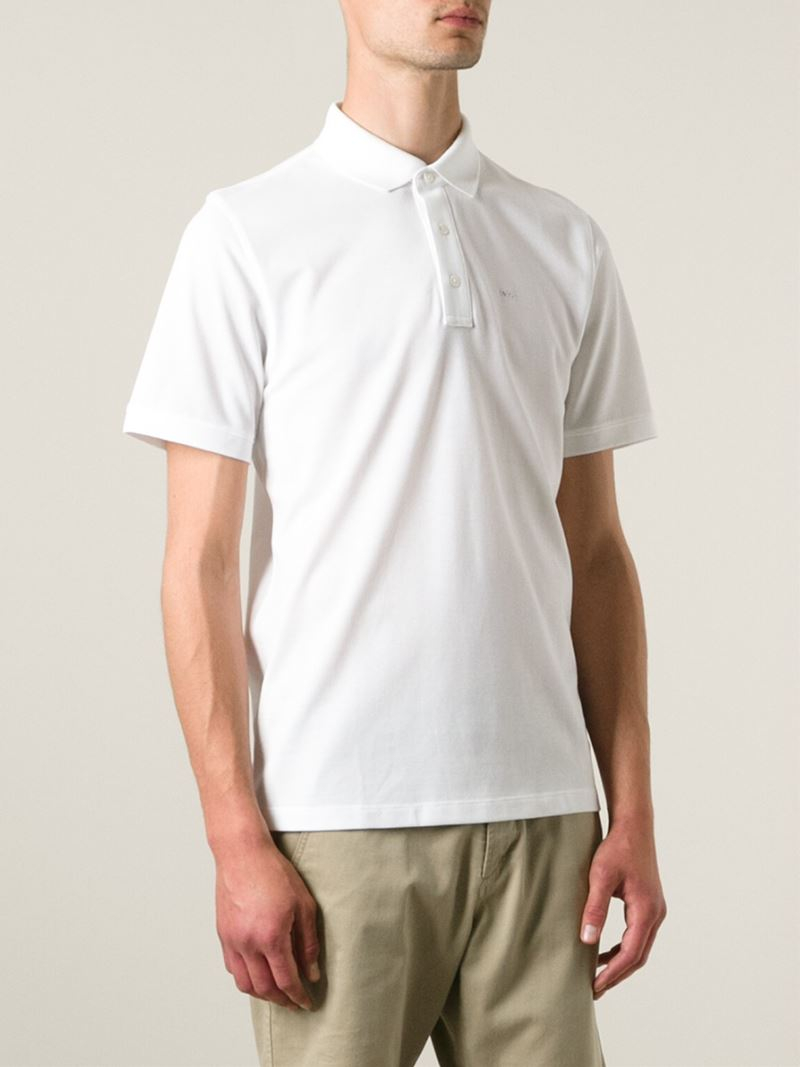 57fe63348 Michael Kors Classic Polo Shirt in White for Men - Lyst