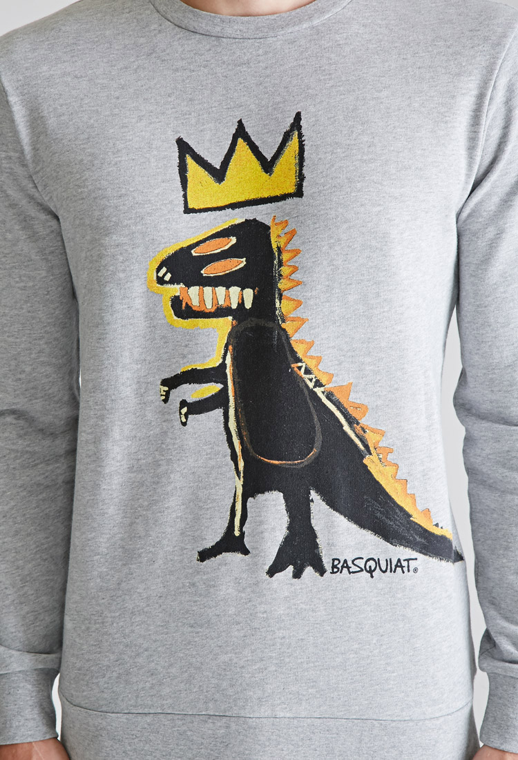 Forever 21 Basquiat Dinosaur Crown Sweatshirt in Gray for ...  Forever 21 Basq...