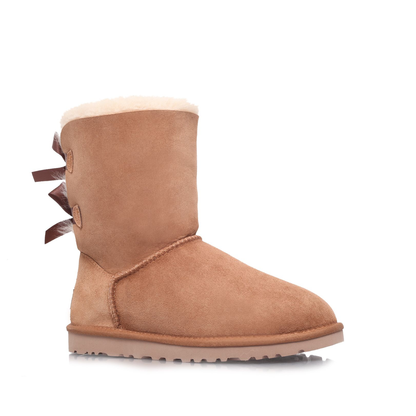 ugg bailey bow calf boots in brown lyst