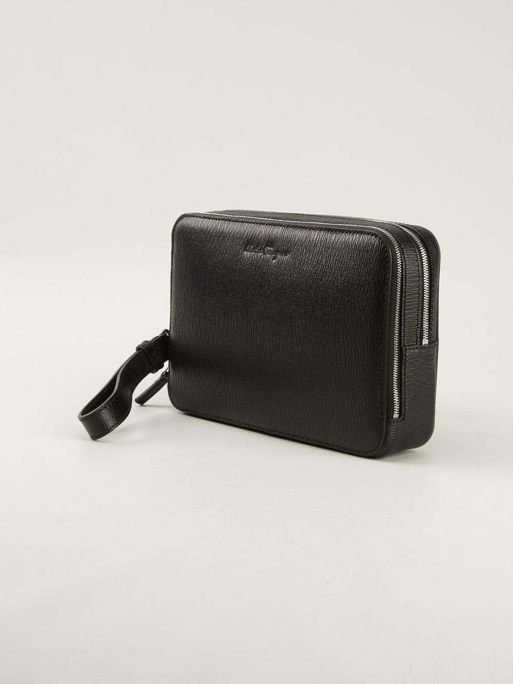 Lyst - Ferragamo Clutch Wallet in Black for Men b83cd2cb78bd2