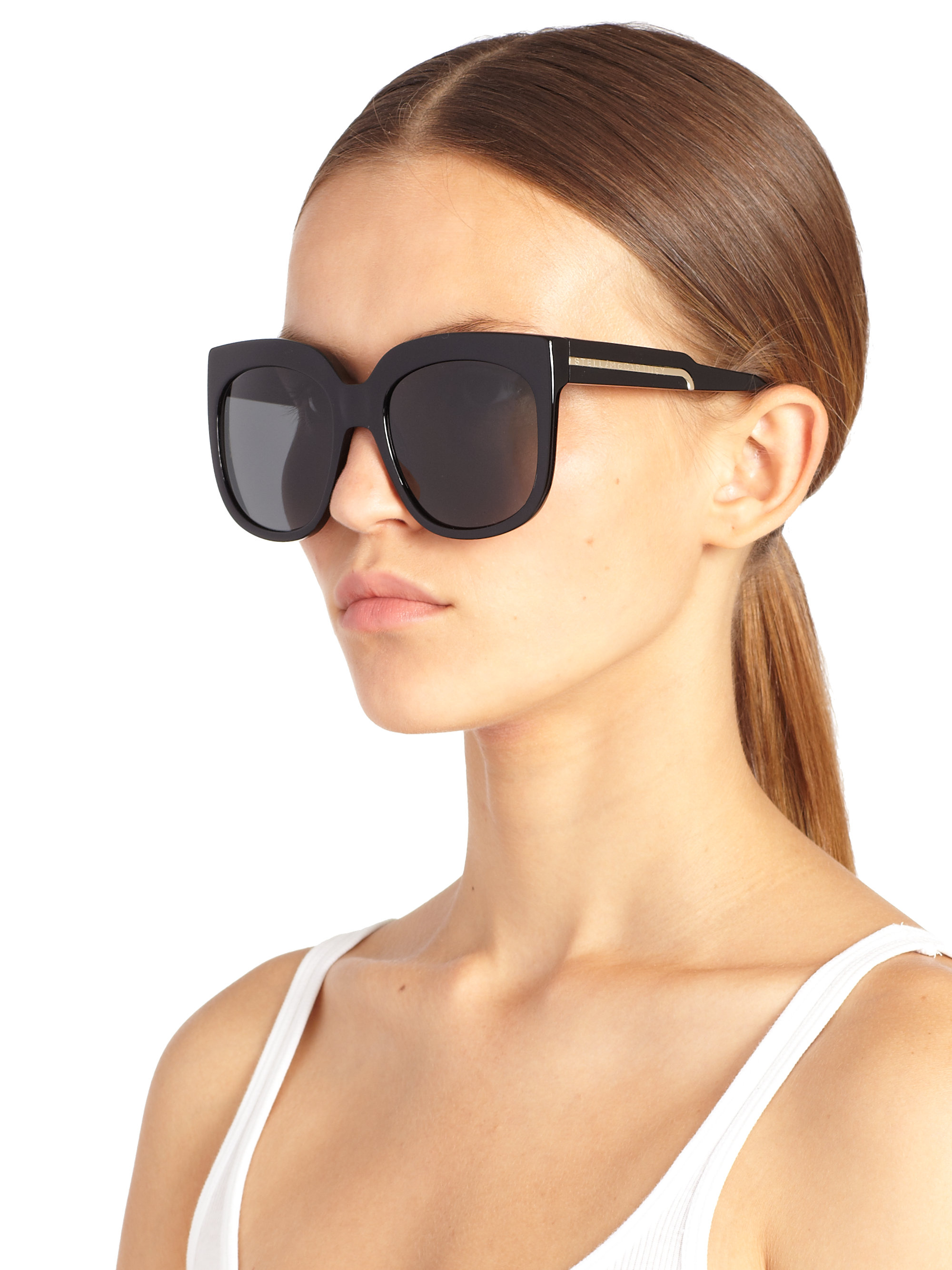 9fdc770bdb Lyst - Stella McCartney Oversized 58mm Square Sunglasses in Black