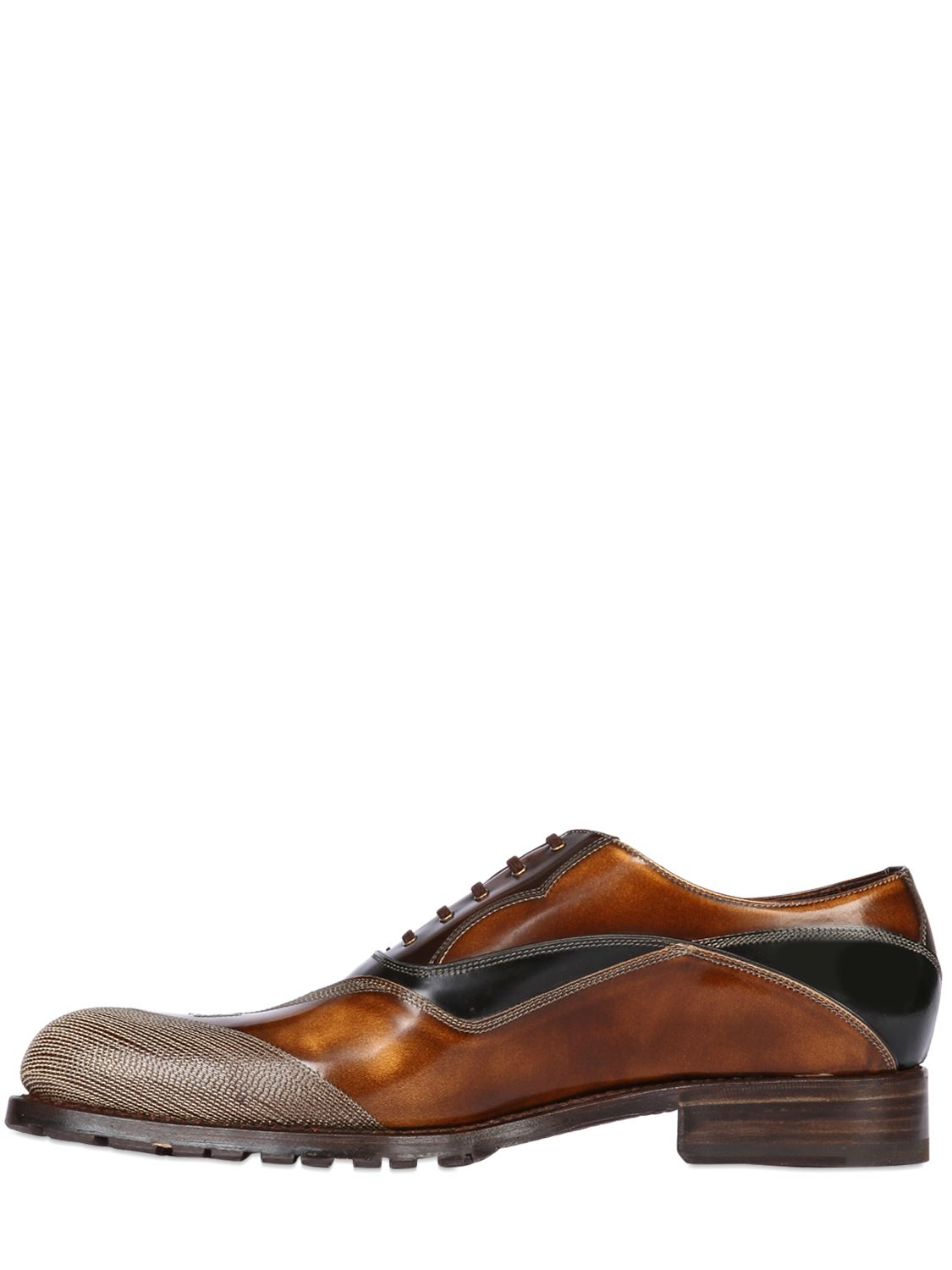 Lanvin Brushed Leather Oxford Shoes
