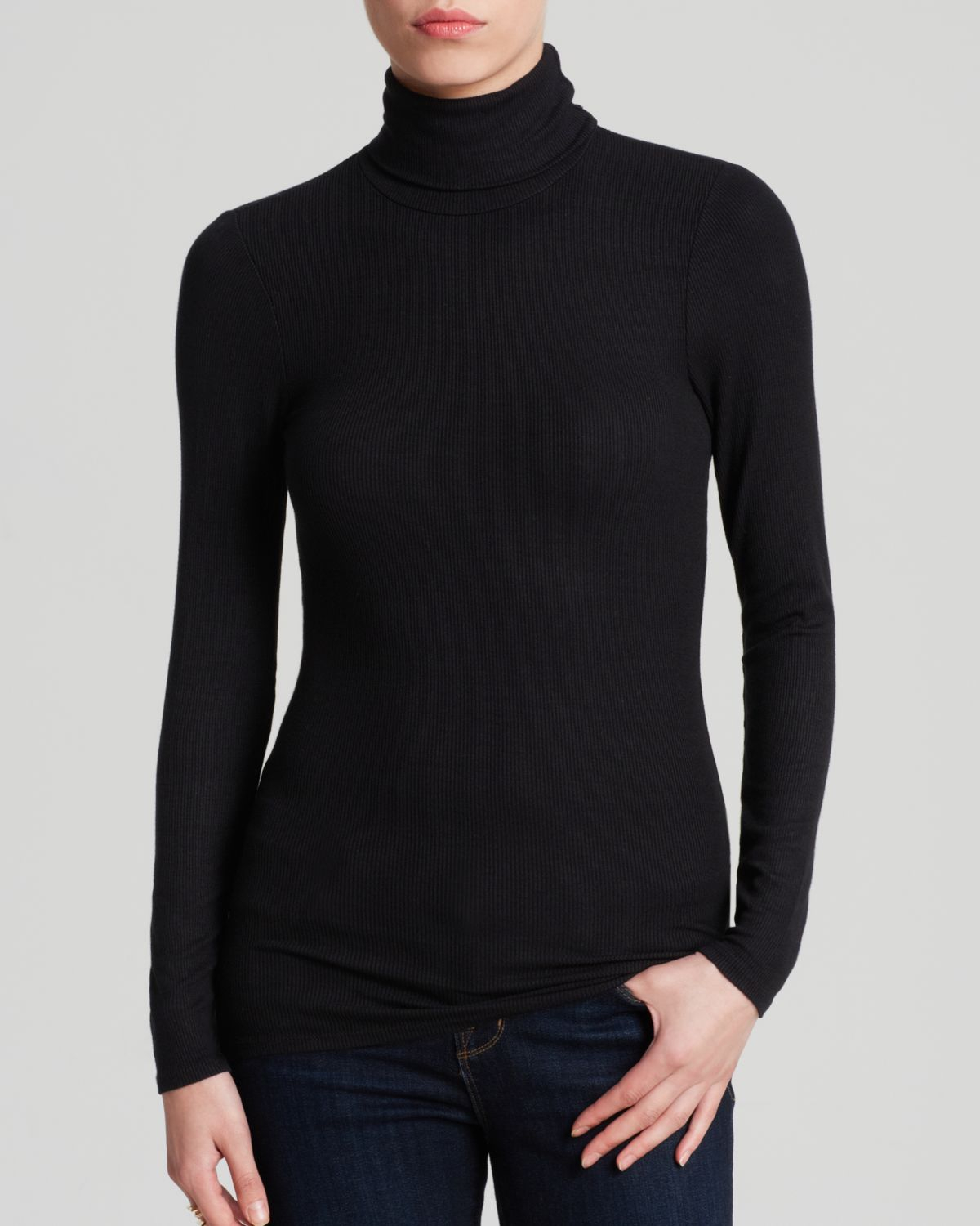 Turtleneck Black Shirt | Is Shirt