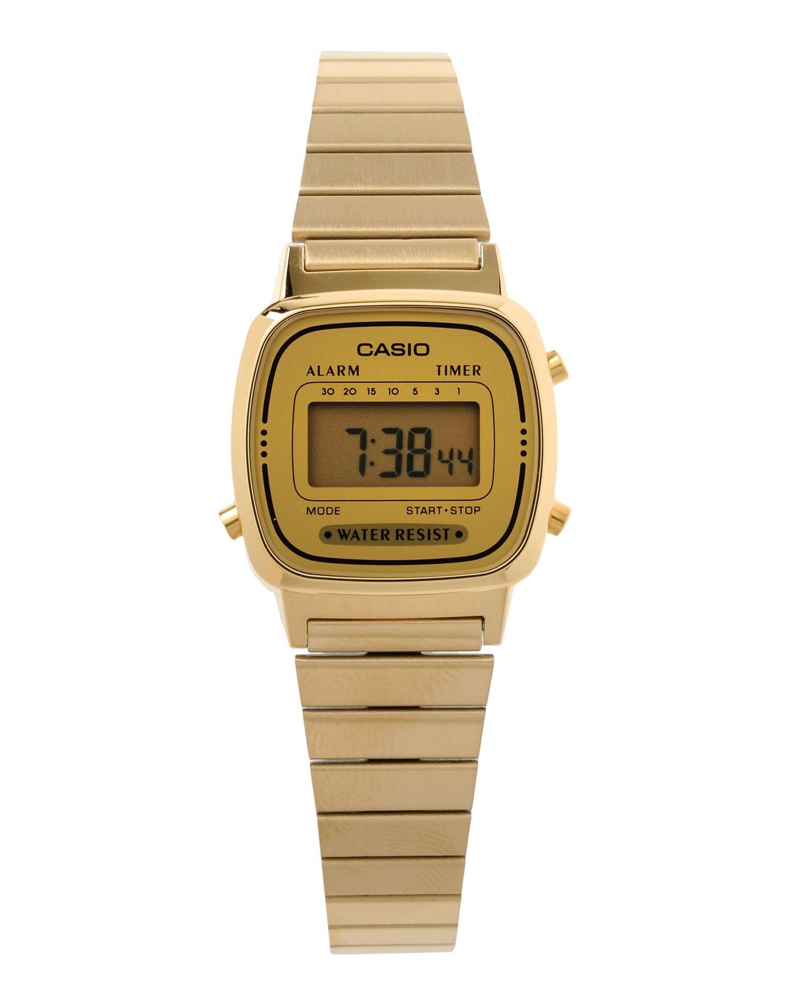 casio wrist in gold lyst
