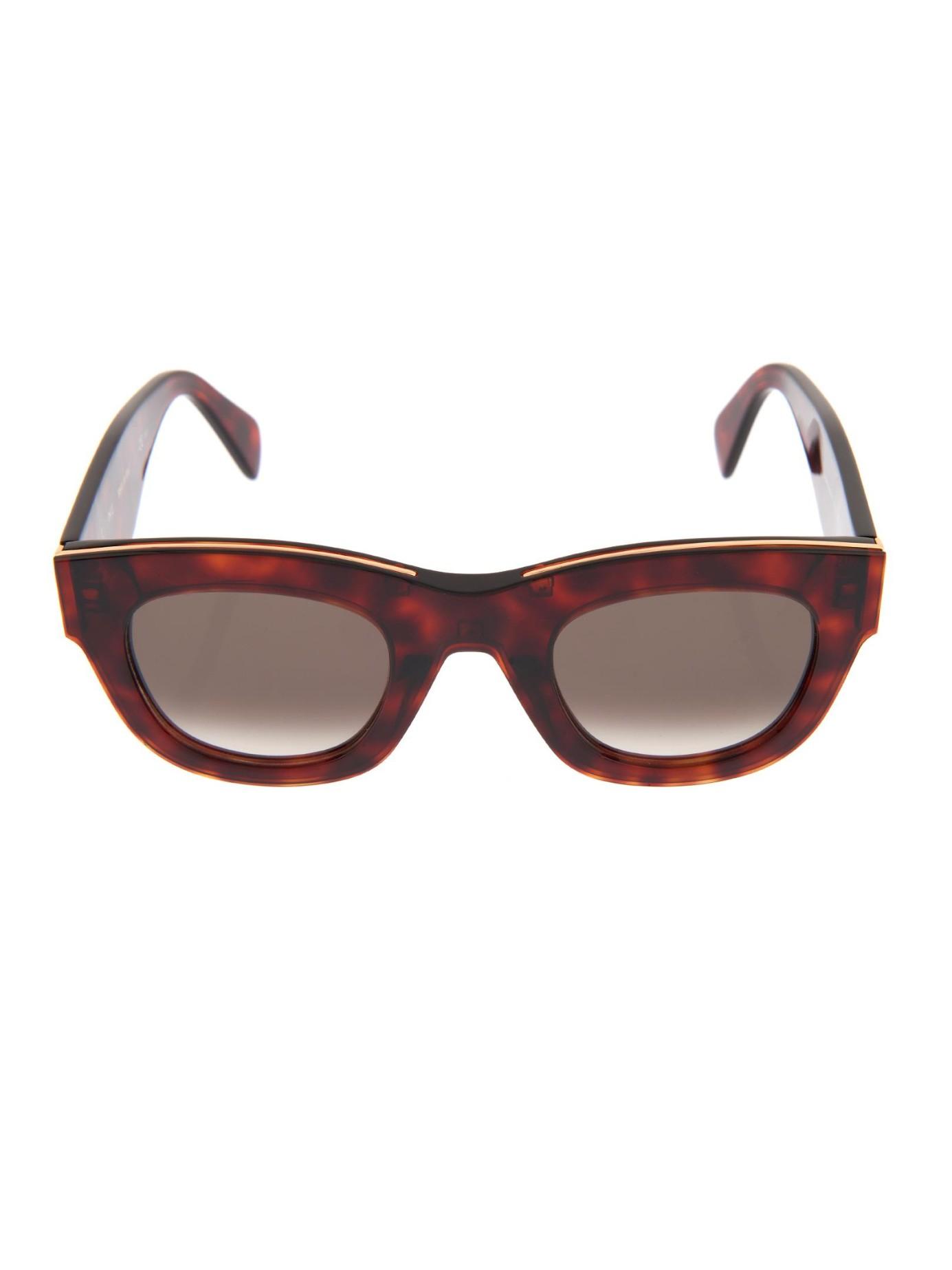 5237dc621a83 Lyst - Céline D-Frame Acetate Sunglasses in Purple