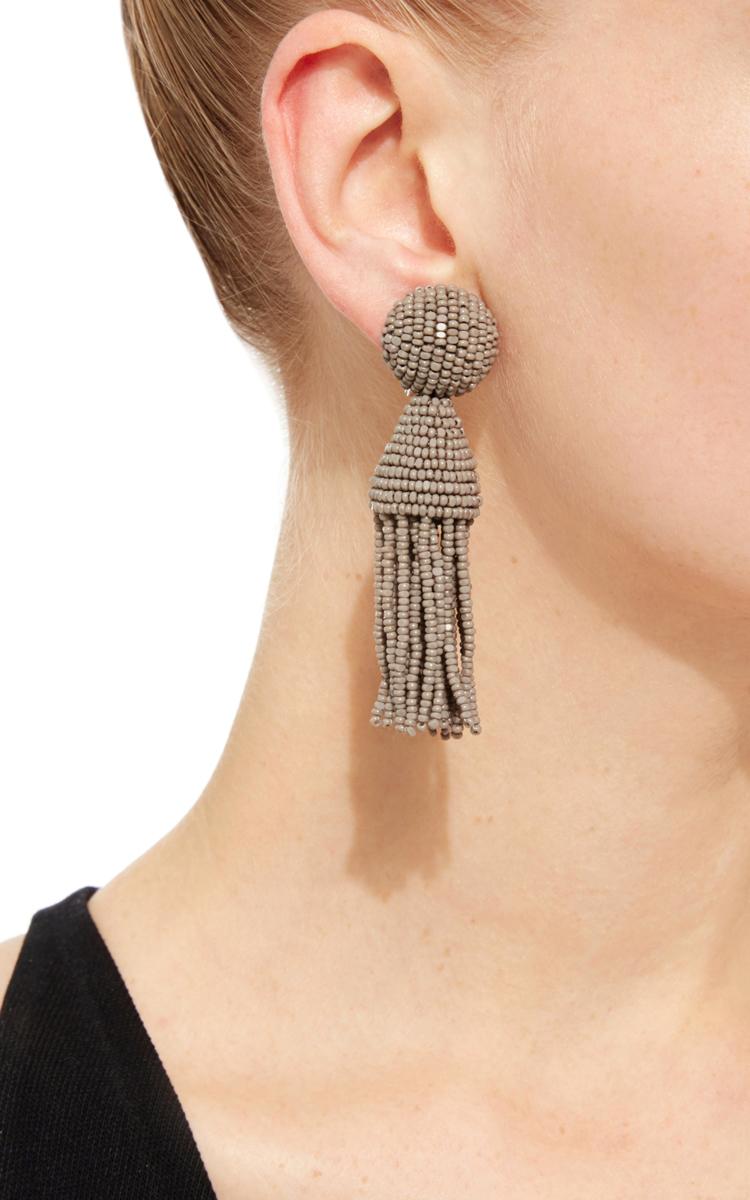 beaded tassel earrings - Black Oscar De La Renta U1nTjc