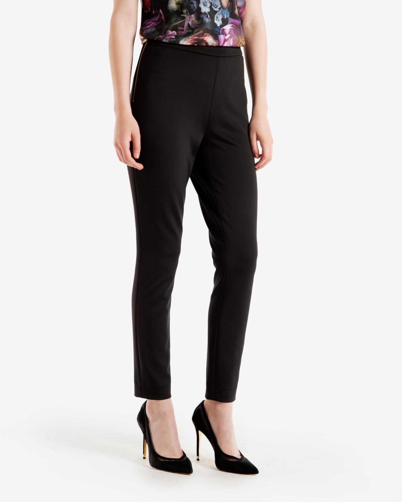 7e7937a4fc78 Ted Baker Skinny Neoprene Pants in Black - Lyst