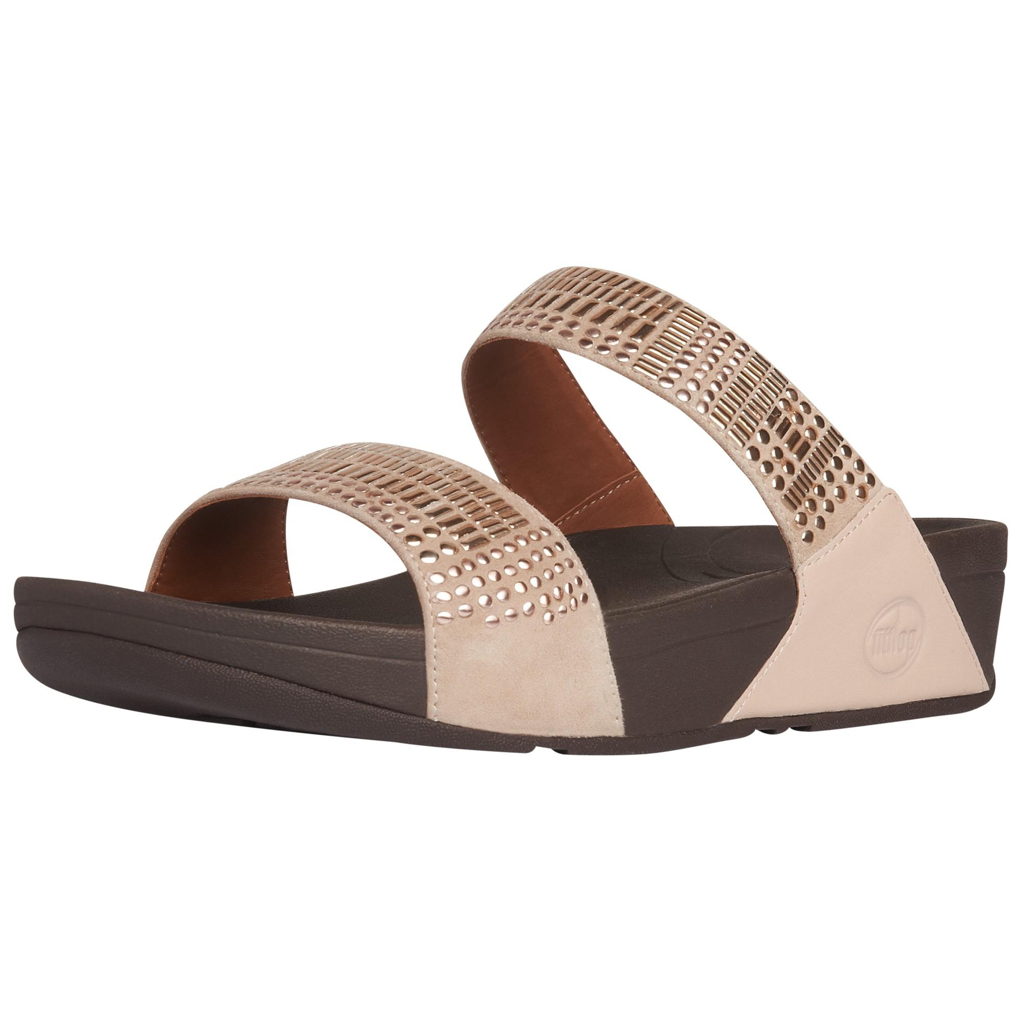 aa2f1b188 Fitflop Aztek Chada Slide Suede Sandals in Pink - Lyst