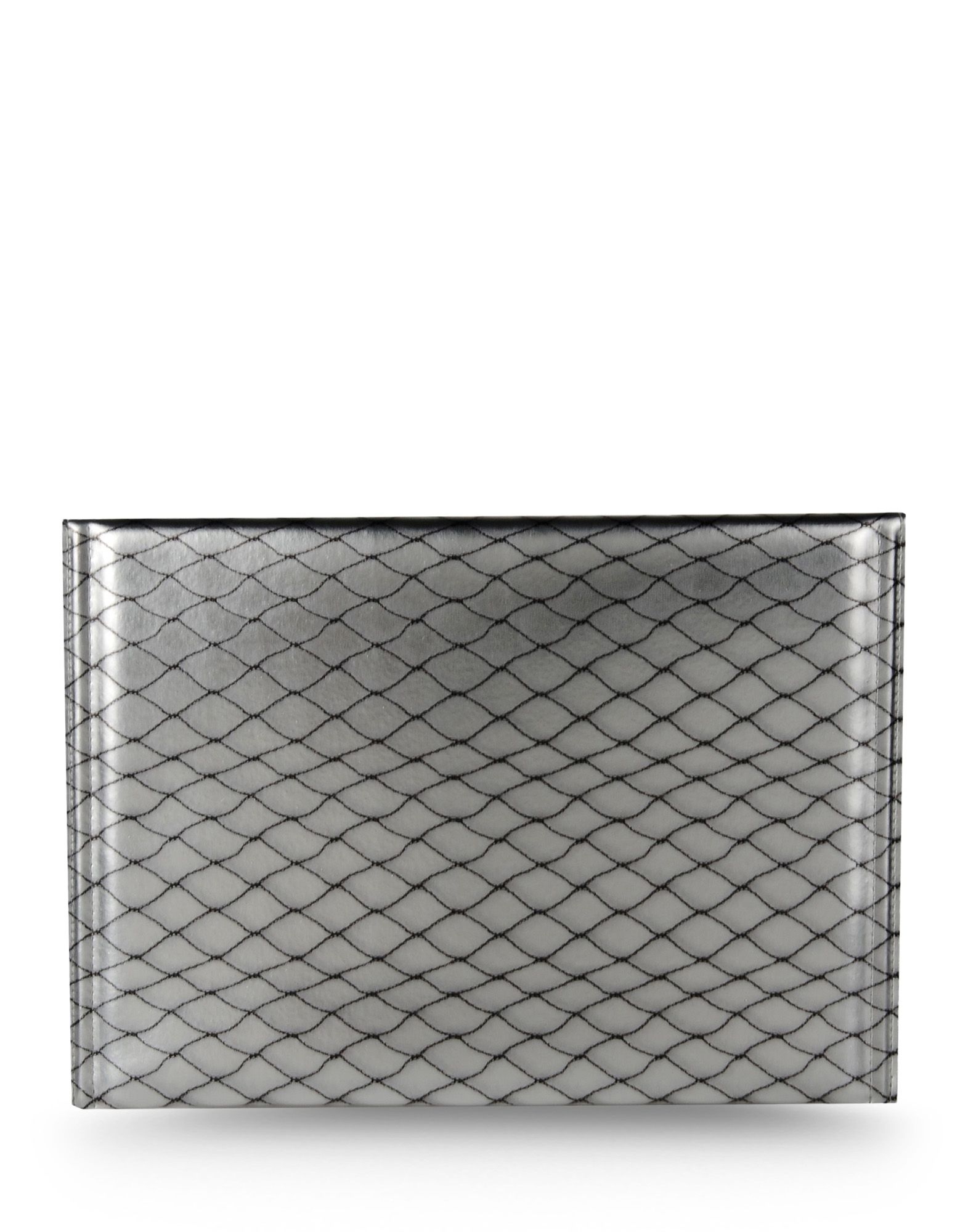 Mm6 by maison martin margiela clutch in white ice lyst for Mm6 maison margiela