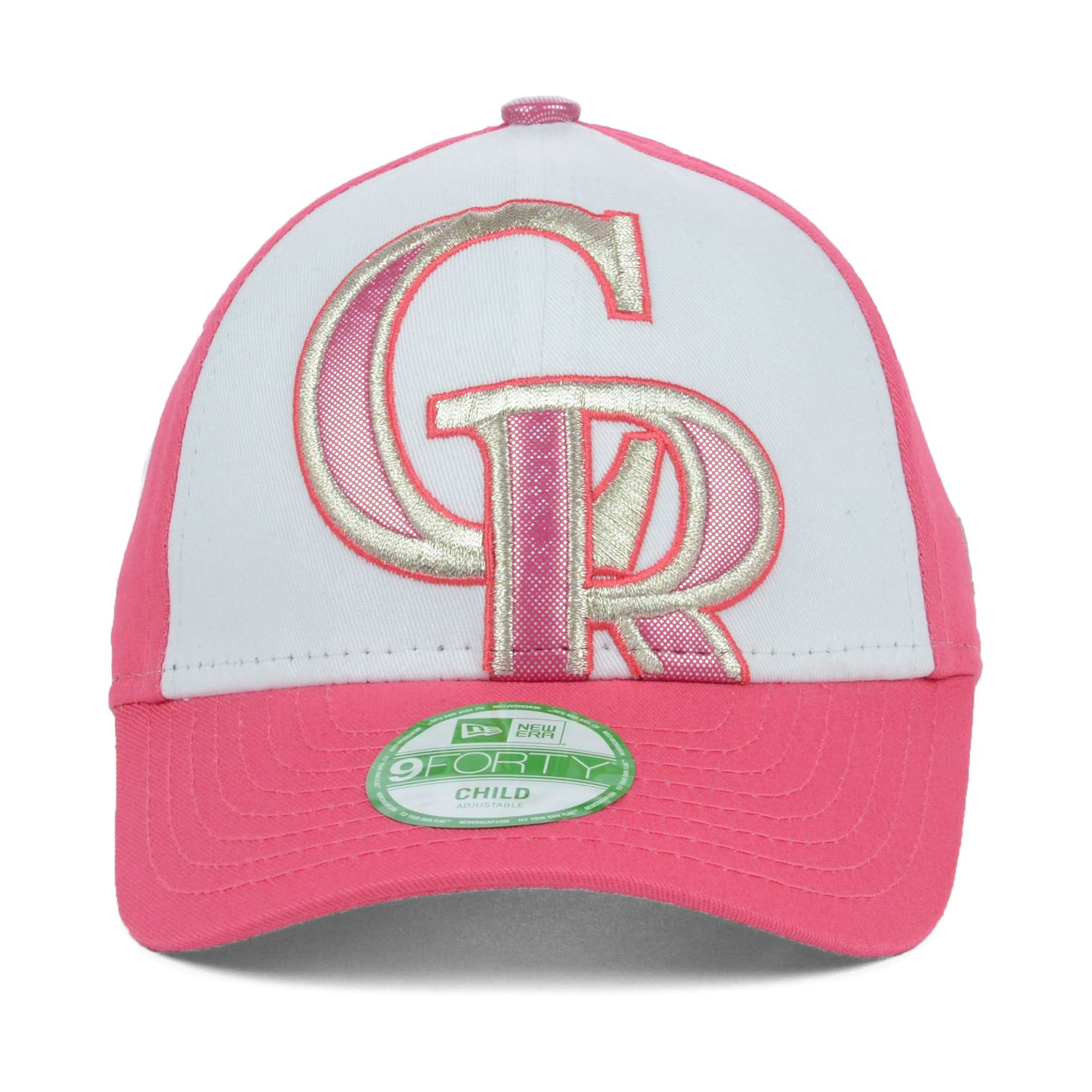 super popular 49a99 49048 amazon original handcrafted baltimore orioles new era mlb youth glitter  filler 9forty cap white pink a90c8 b80c2