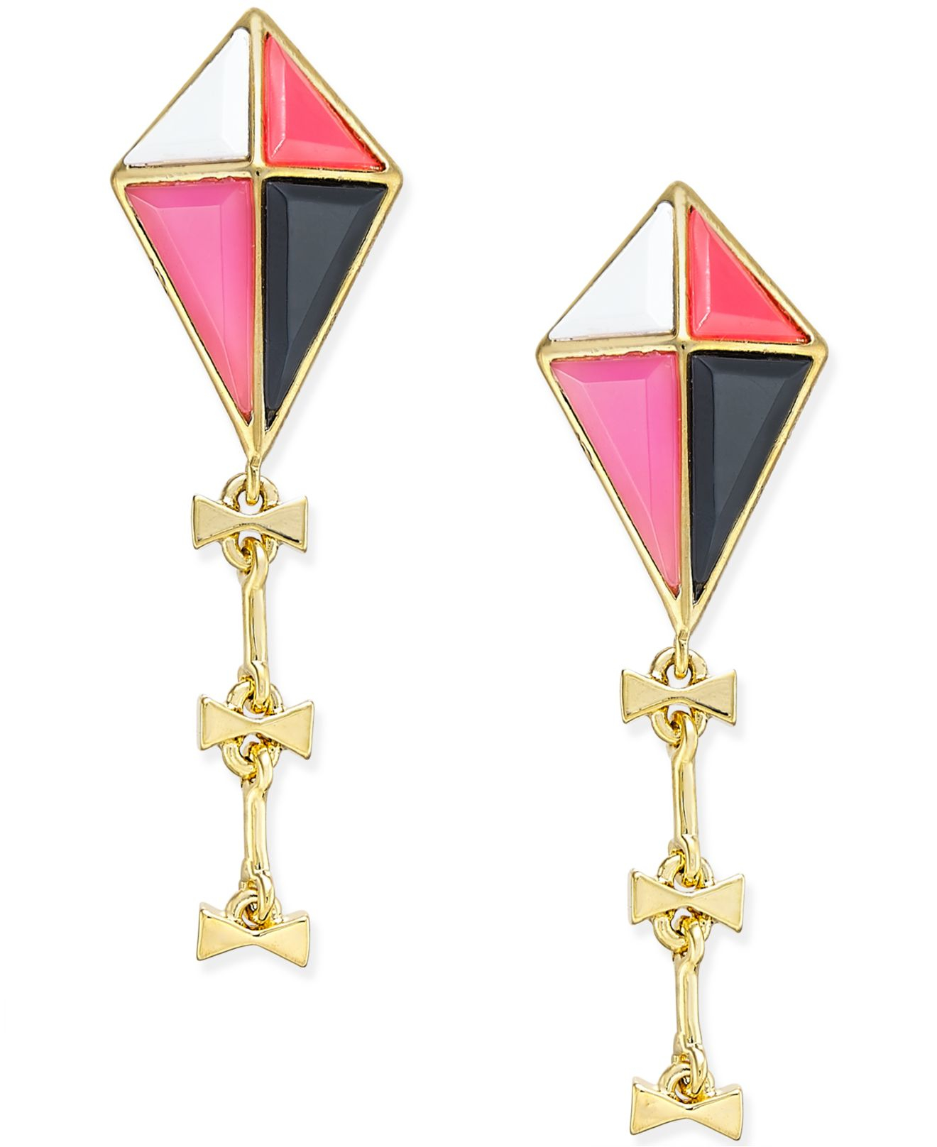 Lyst Kate Spade New York Gold Tone Colorful Kite Drop Earrings In