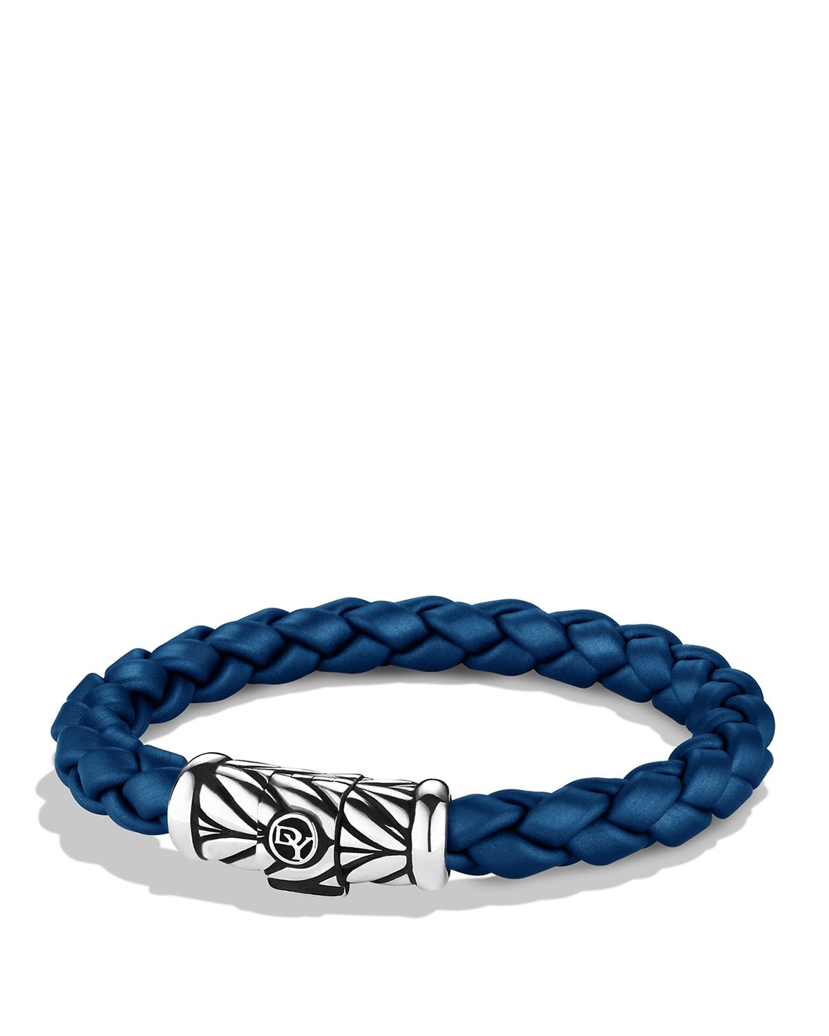 david yurman chevron bracelet in blue in metallic for