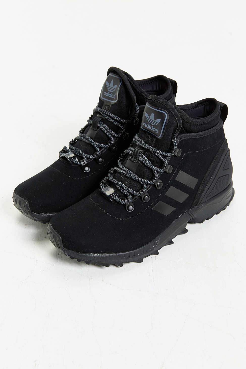 Lyst Adidas Originals Zx Flux Leather Sneakerboot In