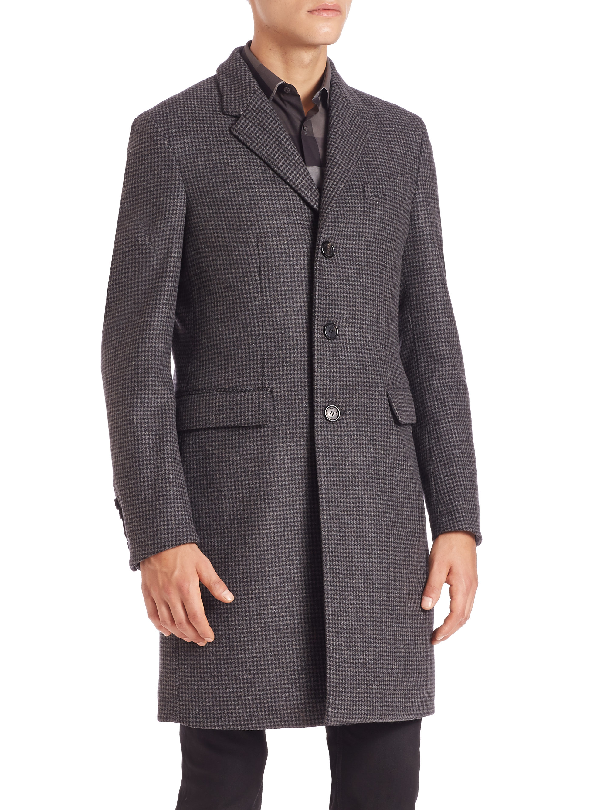 Burberry Hoxton Wool-cashmere Coat in Gray for Men | Lyst