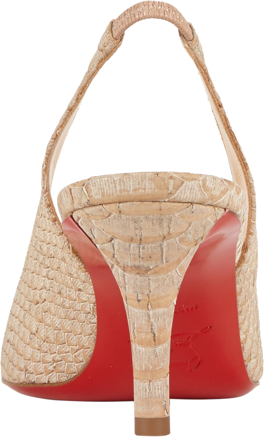 louboutin shoe price - Christian louboutin Apostrophy Slingback Pumps in Beige (Nude) | Lyst