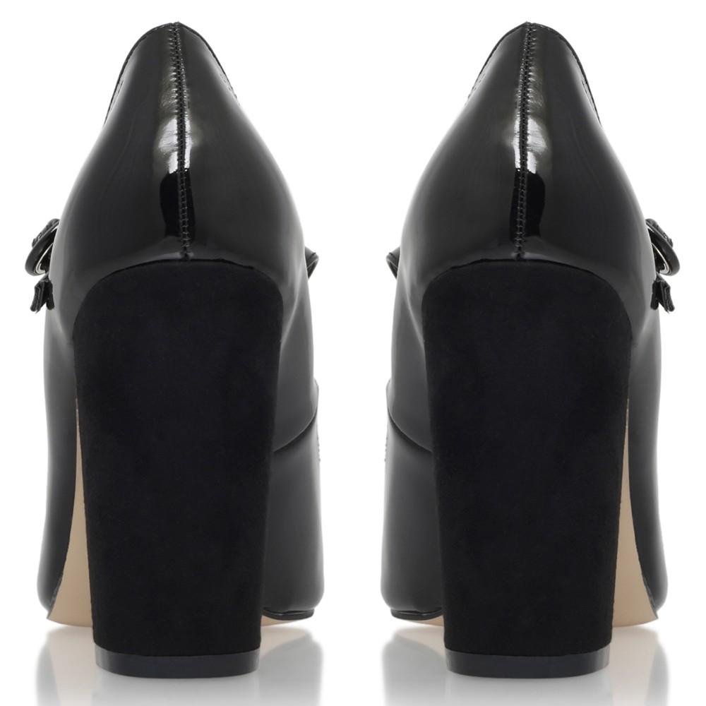 f6c4e2ed45b Miss Kg Carla Block Heeled Mary Jane Court Shoes in Black - Lyst