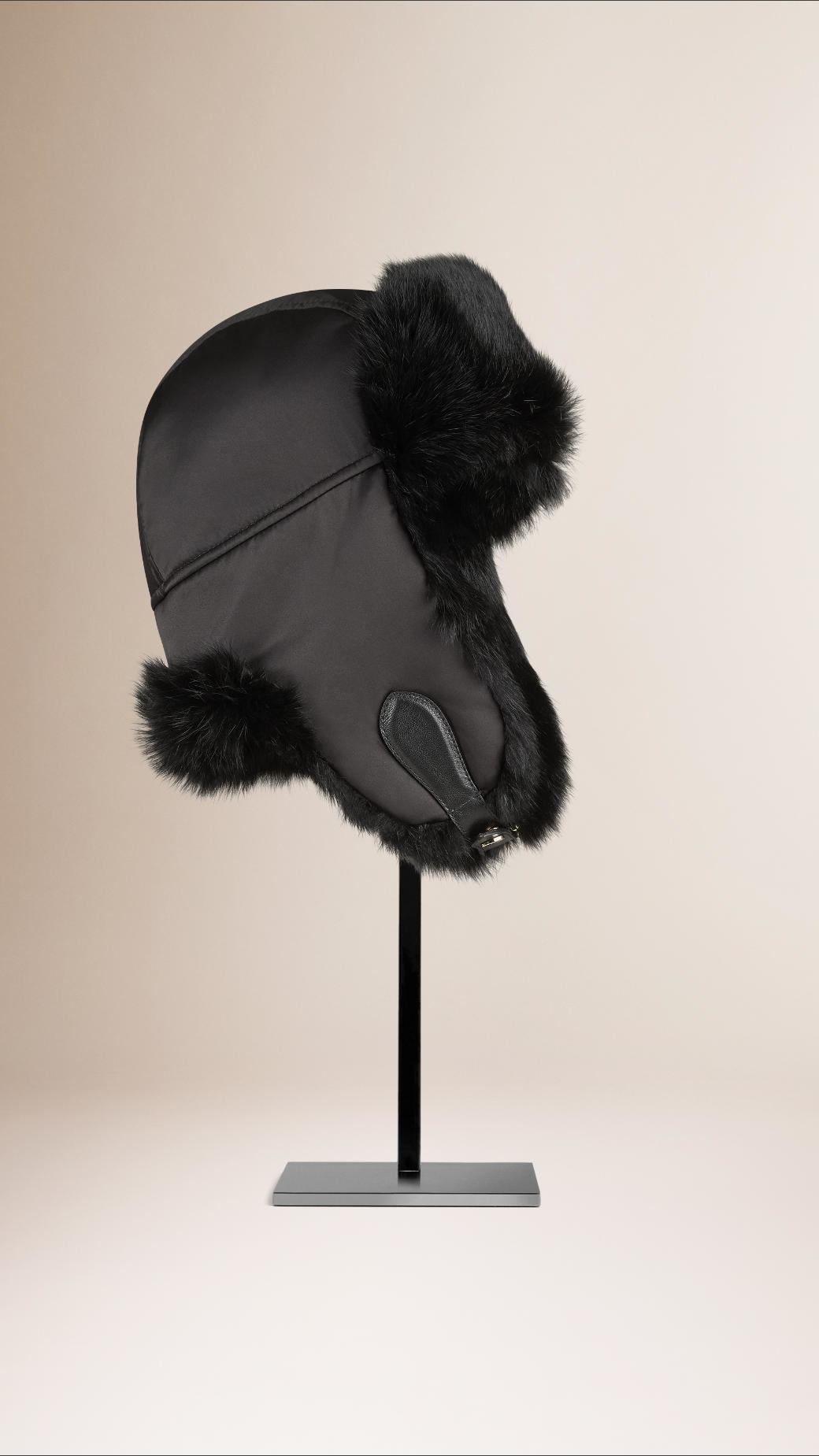 Burberry Rabbit Fur Aviator Hat in Black - Lyst 003823ea6d0