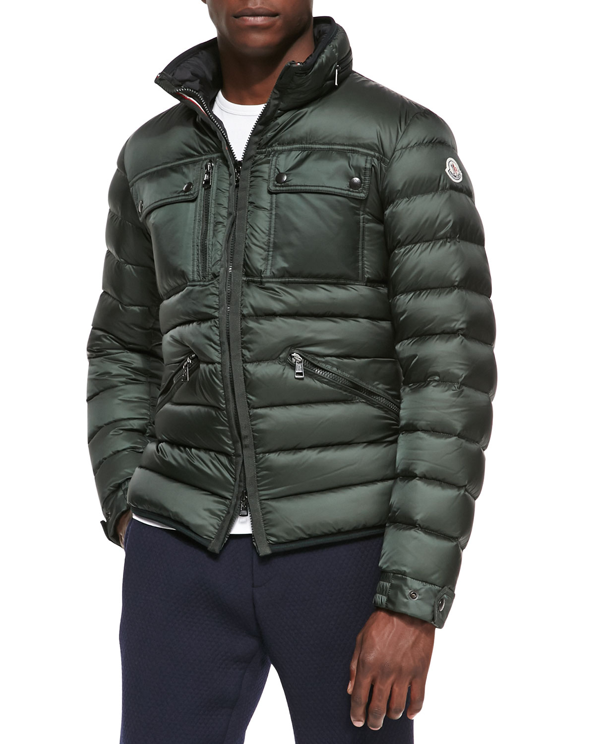 Moncler Norbert Quilted Puffer Jacket In Green For Men Lyst