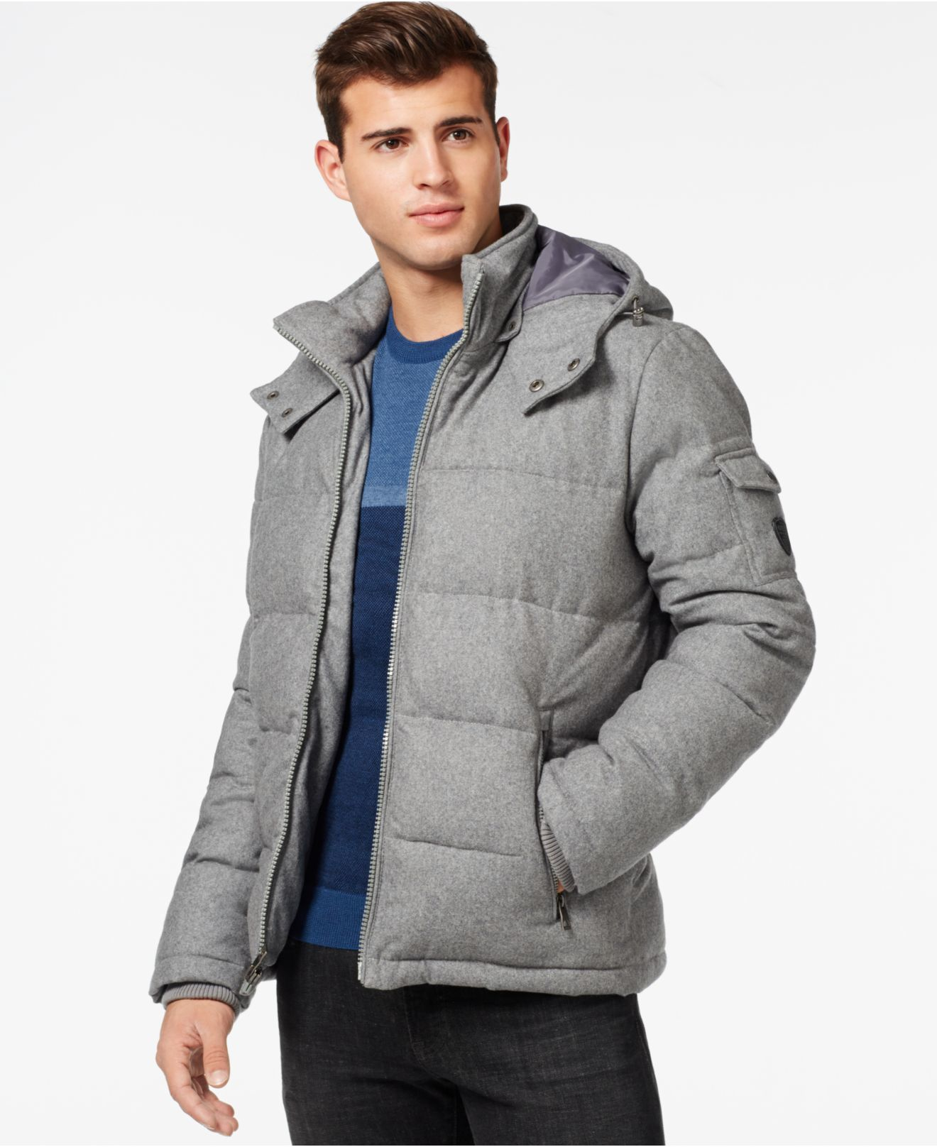 Lyst Guess Quilted Down Filled Jacket With Removable