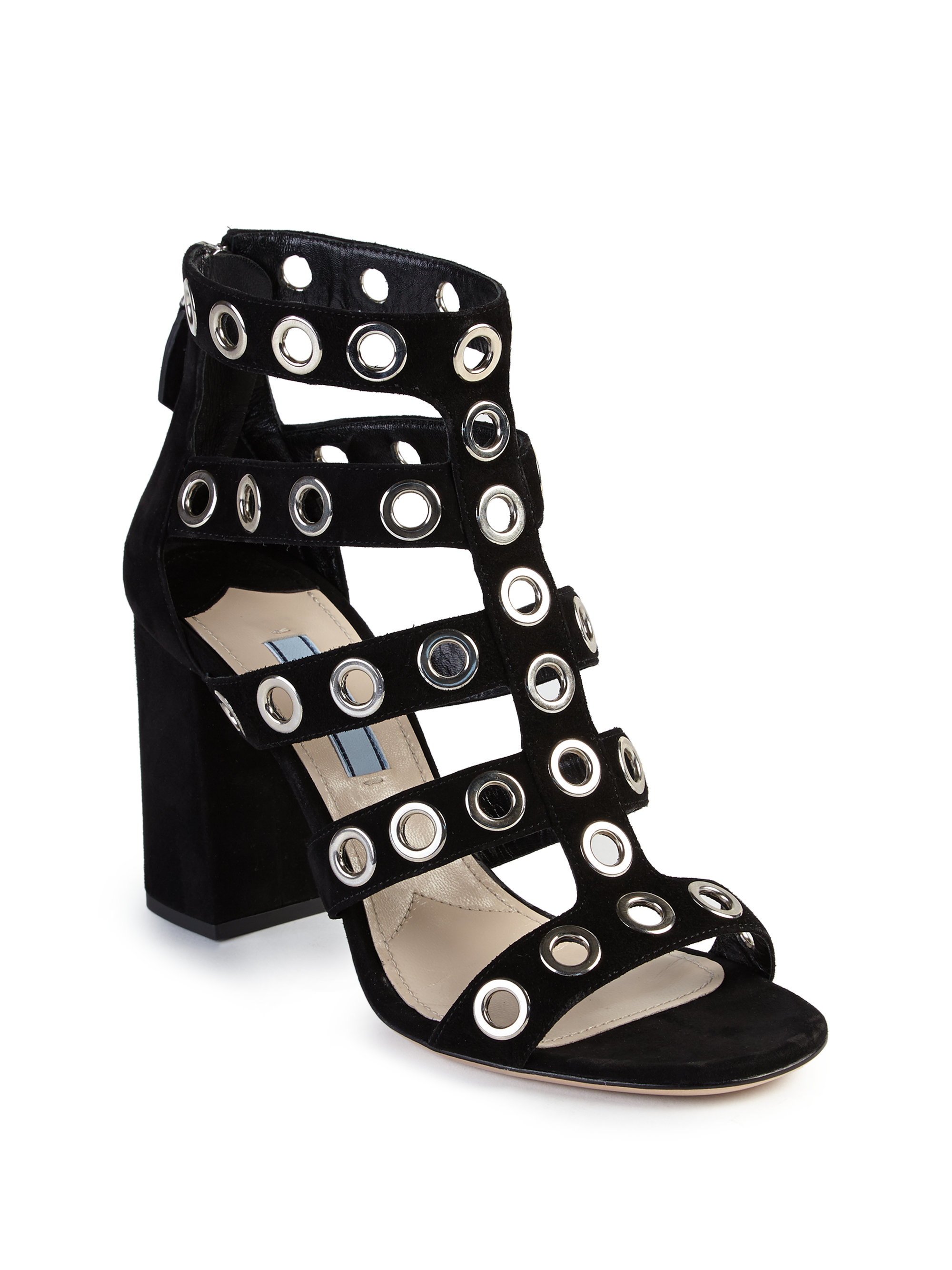 Prada Grommet Cage Sandals cheap price from china outlet the cheapest buy cheap fast delivery low price fee shipping G0C1qI1U