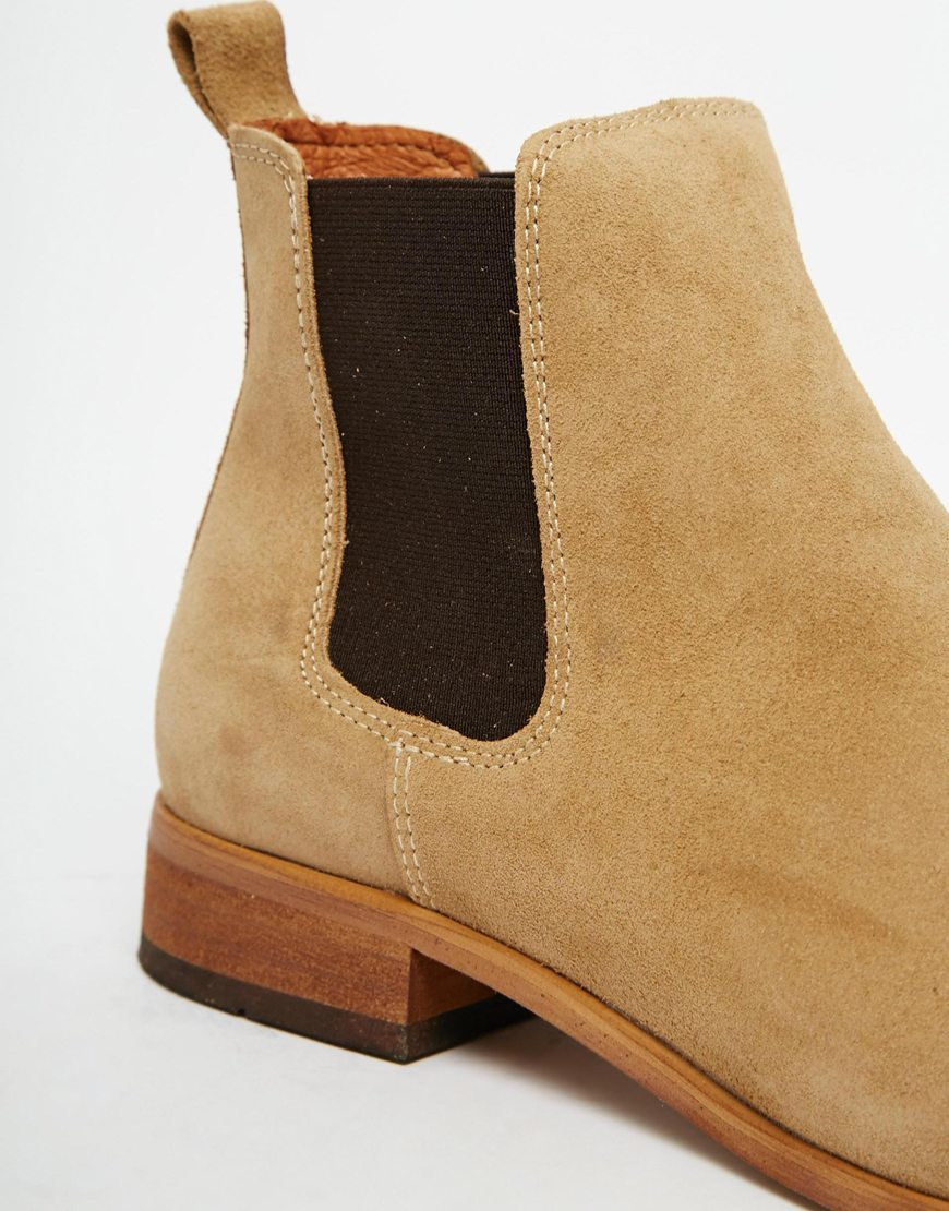 Lyst Shoe The Bear Suede Chelsea Boots In Brown For Men